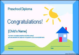 preschool certificate template ppt templatezet