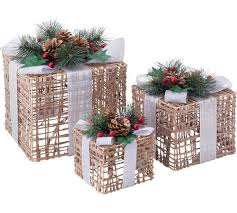 where can i buy christmas boxes buy set of 3 christmas light up wicker boxes at argos co uk visit
