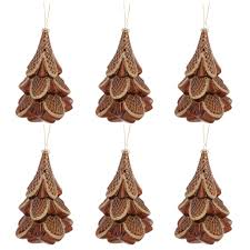 buy the 6ct glass 6 25 tree ornament set copper at