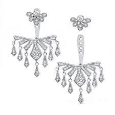 earring jackets for studs 14k diamond chandelier earring jackets and studs earrings jewelry