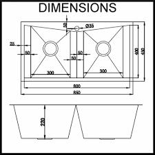 Kitchen Sink Dimensions - kitchen sinks apron sink drain pipe size triple bowl oval copper