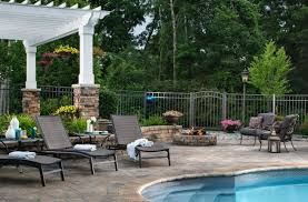 Belgard Fire Pit by Pool Deck U0026 Patio Design Trends In 2017 Belgard Blog