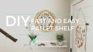 how to build a fast and easy pallet shelf youtube