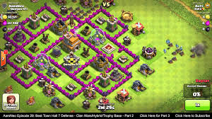 layout coc town hall level 7 best town hall level 7 th7 defense strategy clan wars hybrid