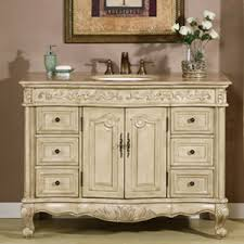 Antique White Bathroom Vanities Antique White Vanity Cabinet - Bella 48 inch bathroom vanity white