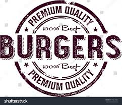 vintage burger restaurant menu sign stock vector 175414586