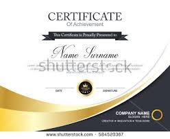 certificate template golden element stock vector 596267033