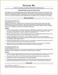 resume for accounts executive marketing resume format executive sample mid lev saneme