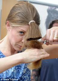flip hair upsidedown and cut is a diy hairdo a shortcut to disaster as more women skip the