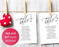 wedding table seating cards 1 40 template 4x6 5x7 seating