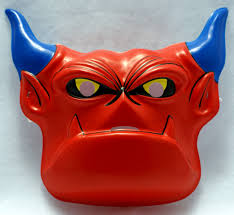 old fashioned halloween masks mighty max warmonger vintage halloween mask 1994 rubies cartoon