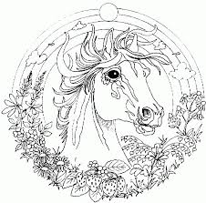 complex horse coloring pageskids coloring pages