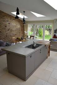 kitchen island worktops countertops backsplash concrete kitchen island brick wall
