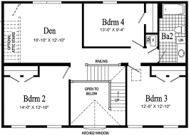 second floor plans home lexington two story modular home pennwest homes model hs105 a