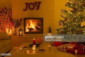 christmas tree and gifts in living room stock photo getty images