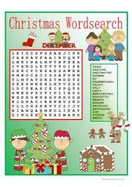 20 free esl christmas wordsearch worksheets