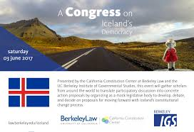 a congress on iceland u0027s democracy berkeley law