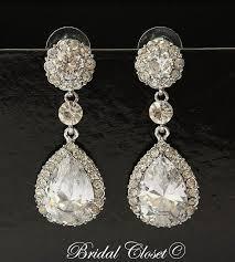 bridal earrings swarovski earrings drop dangle bridal