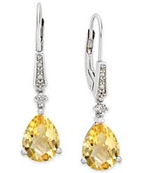 citrine earrings shop citrine earrings at macy s macy s