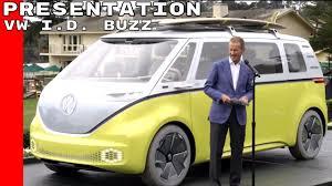 volkswagen bus beach vw i d buzz bus presentation in pebble beach youtube
