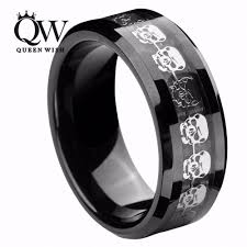 skull wedding rings aliexpress buy queenwish black tungsten carbide rings men