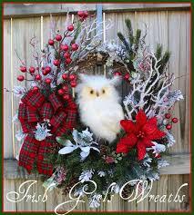 162 best owl wreaths by irish u0027s wreaths images on pinterest