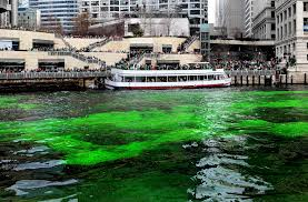 chicago dyes river green for st patrick u0027s day