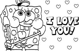 spongebob christmas coloring pages online i love you valentine