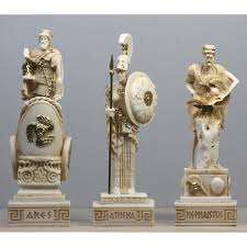 greek gods statues greek roman gods hephaestus ares goddess ατηενα statue sculpture