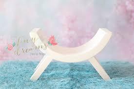 Newborn Photography Props Tiny Dreams U2014 Wooden Stool Curved Bench Newborn Baby Photography Prop