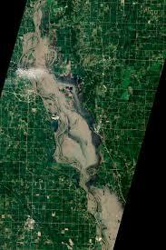 Flooding Missouri Map Flooding Near Hamburg Iowa Image Of The Day