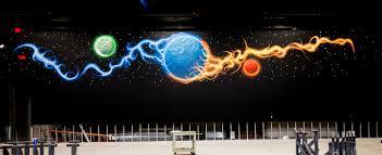 murals rogers ak hirise trampoline park