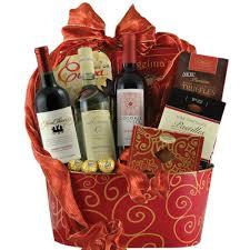 Wine And Chocolate Gift Baskets Wonderful Wine Trio Gift Basket
