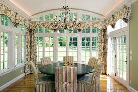Arch Window Curtain Valances Window Treatments In Dining Room Traditional With Arched