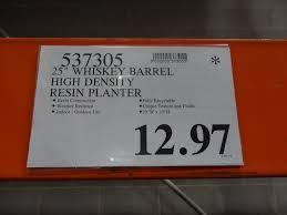 whiskey barrel resin planter u2013 price reduction alert