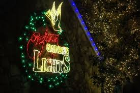 a holiday hike through the enchanted garden of lights