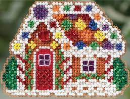 mill hill gingerbread cottage ornament counted cross stitch kit