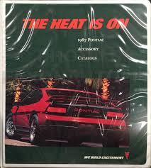 1987 pontiac data book dealer album fleet edition original