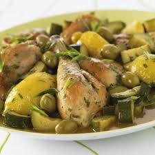poulet aux citrons confits cuisine fricassée de poulet et pommes de terre olives et citron confit