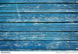 rustic wooden planks with blue cracked paint vintage wall