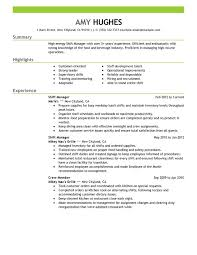 Restaurant Manager Resume Template Unforgettable Shift Manager Resume Exles To Stand Out