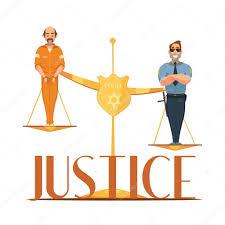 imagenes animadas de justicia gratis ley justicia retro cartoon cartel de composición vector de stock