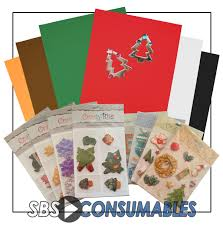 christmas card making craft pack office supplies uk