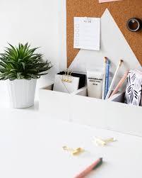 organiseur de bureau en bois 15 idées diy pour le bureau shake my