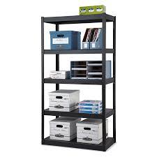 5 shelf desk organizer edsal heavy duty steel shelving 5 shelves 36 w x 18 d black by