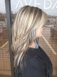 hi and low lights on layered hair chunky blonde highlights hair hair hair pinterest chunky
