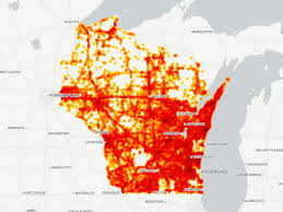 Wisconsin State Map by Map Where Wisconsin Drivers Hit Deer