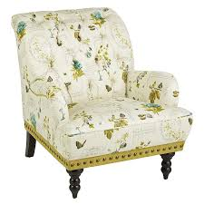 Pier One Accent Chair Chas Botany Green Ivory Armchair Pier 1 Imports