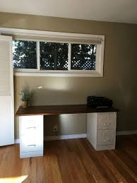 Diy File Cabinet Desk Wraparound Desk Made From One Sheet Of Plywood 2 Filing Cabinets