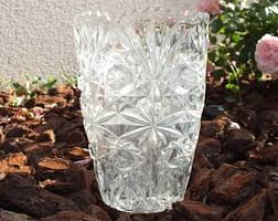 Antique Lead Crystal Vase Vintage Crystal Vase Etsy
